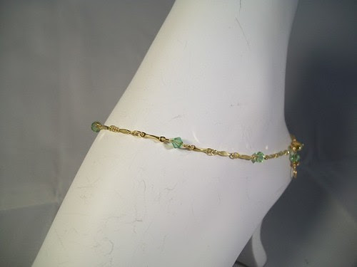 Peridot Crystal Anklet