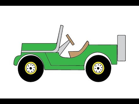 Simple Jeep Drawing At Getdrawingscom Free For Personal Use