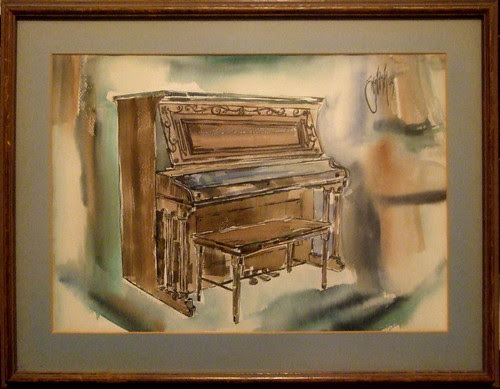 Piano, water color.