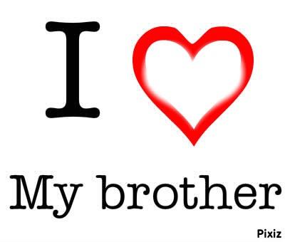 Fotomontage I Love My Brother Pixiz