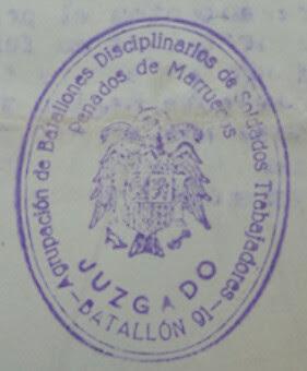 Sello Batalló disciplinario de Marruecos