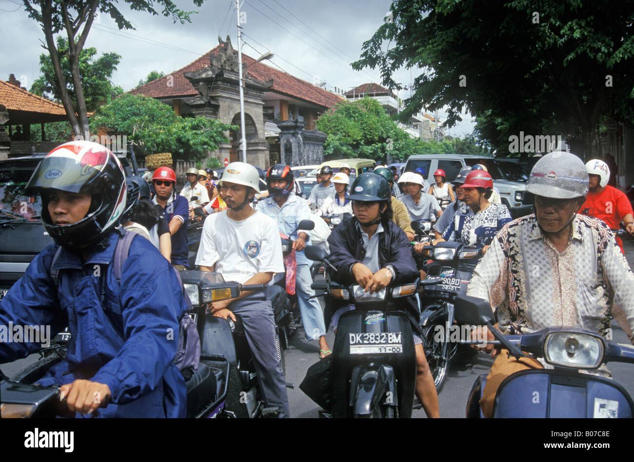 Bali Denpasar City Traffic Indonesia Stock Photo, Royalty ...