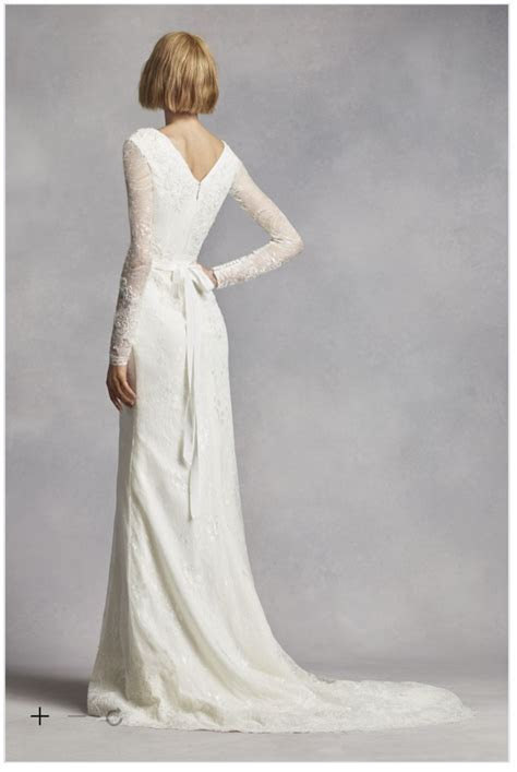 White by Vera Wang 'Long Sleeve Lace' size 12 used wedding