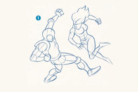 Dibuja Unos Superhéroes En Acción Con La Técnica De Los Lápices
