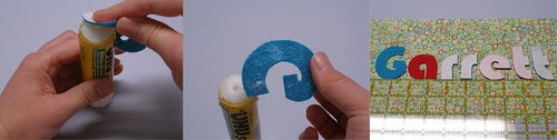 Gluing Letters