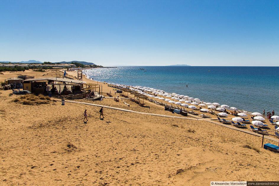 Пляж Иссос, остров Корфу