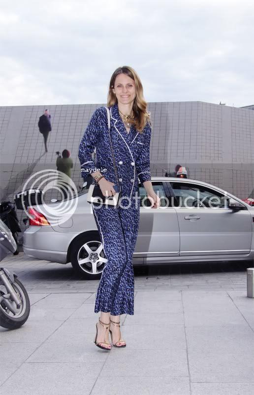 Ekaterina Mukhina wearing Louis Vuitton pajama suit at the Louis Vuitton Joaillerie lauching