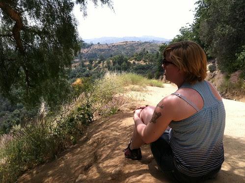 Melissa on the mountain (hill)