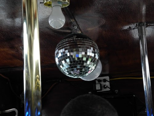 Yes...the trolley has a disco ball.