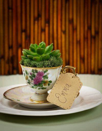 DIY: succulent vintage teacup wedding favors   Favors We Favor