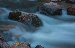 Long exposure on a small stream near Lake Sabrina