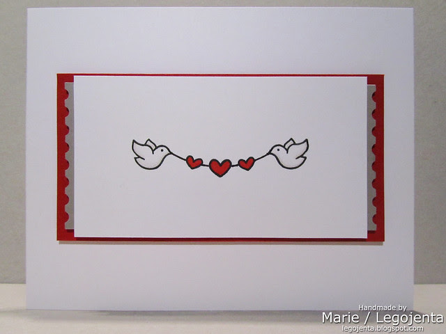 Dove with Heart Banner Card