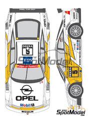 Shunko Models: Calcas escala 1/24 - Opel Calibra V6 DTM Team Joest Nº 5, 6 - Manuel Reuter (DE), Keijo Erik 'Keke' Rosberg (FI) - DTM 1994 - para kit de Tamiya TAM24149