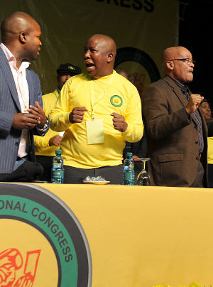 African National Congress Youth League conference in South Africa featured the President Julius Maleme as well as President Jacob Zuma. Malema won re-election easily over the youth wing of the ruling party. by Pan-African News Wire File Photos