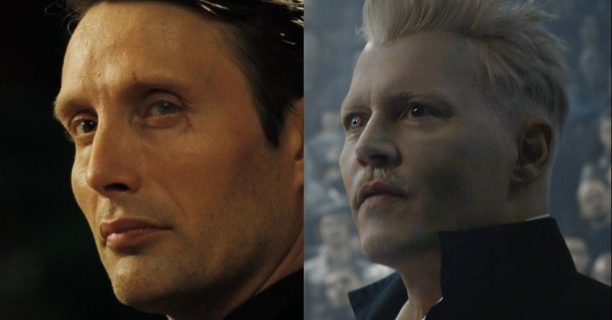 Mads Mikkelsen Johnny Depp Gellert Grindelwald Fantastic Beasts