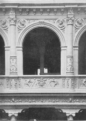 Interior del Hotel Castilla de Toledo hacia 1890