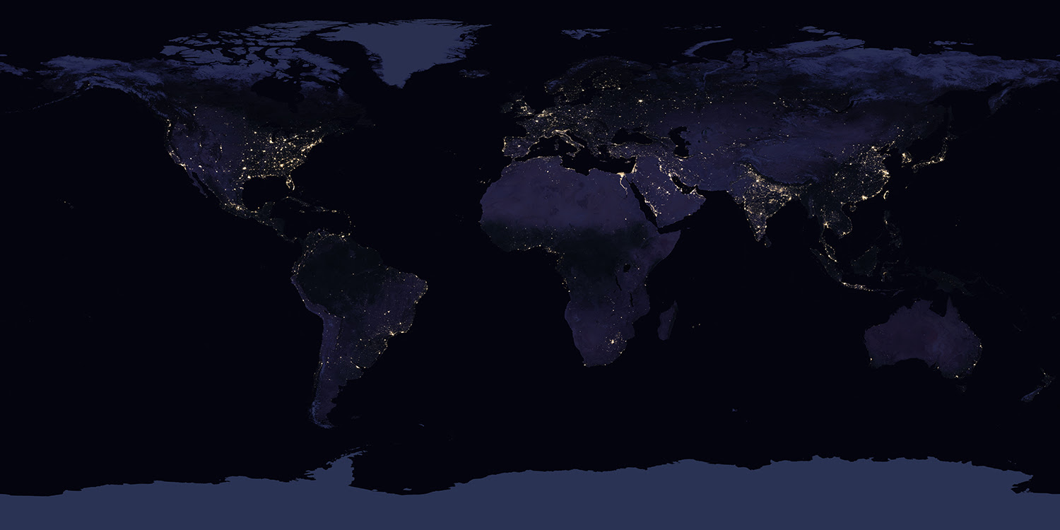 New Night Lights Maps Open Up Possible Real Time