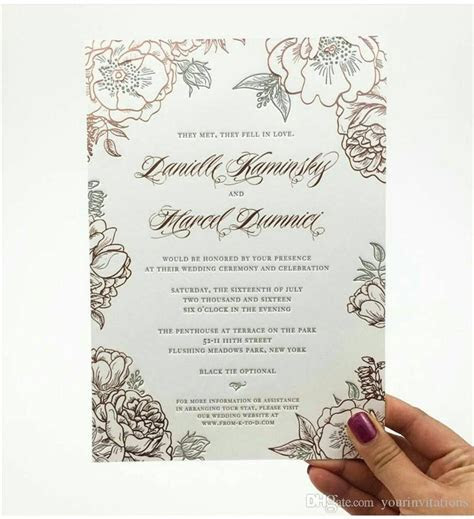 Custom Invitation Printing Service, Foil Stamp, Embossing