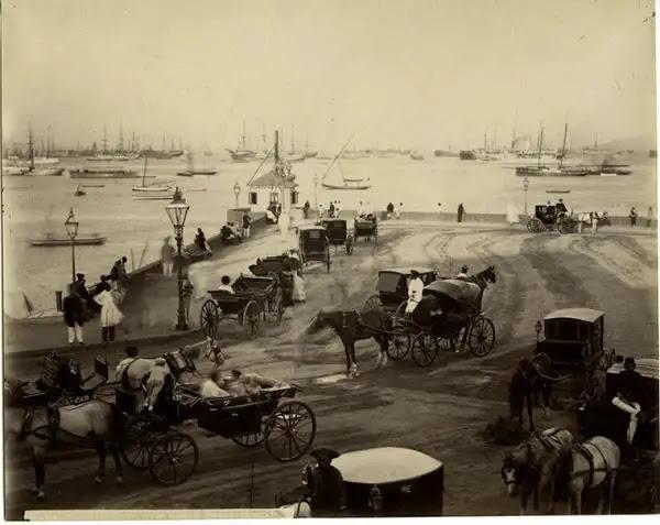 Bombay (Mumbai) Harbour Scene - c1880's