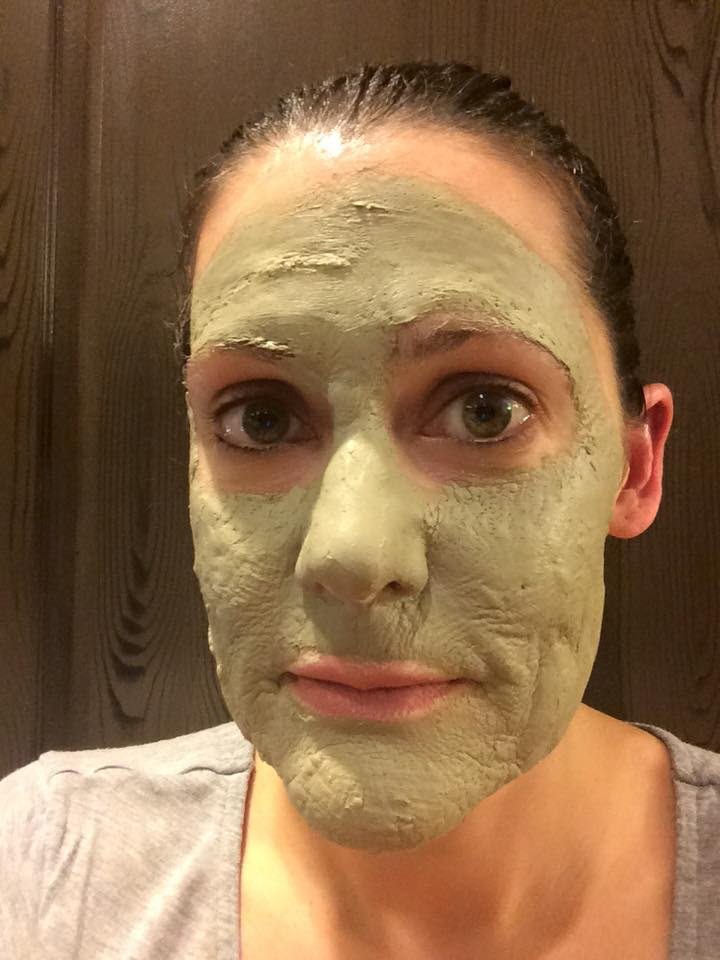 Homemade Deep Pore Cleansing Clay Mask made with Young Living essential oils