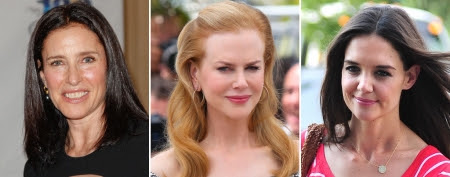 Mimi Rogers (Paul Archuleta/FilmMagic); Nicole Kidman (Tony Barson/Getty Images); Katie Holmes (Alo Ceballos/FilmMagic)