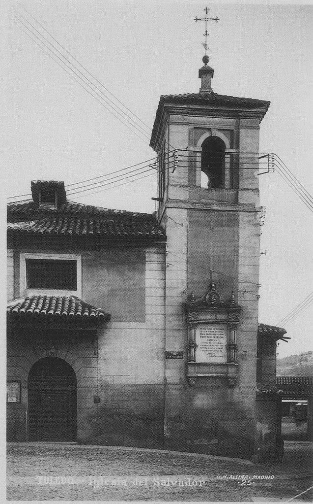 Iglesia de El Salvador a inicios del Siglo XX. Foto Alsina