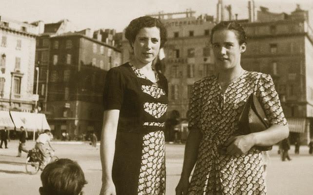 María García Torrecillas y la enfermera suiza Elizabeth Eidenbenz en 1942, poco antes del viaje de la española a México.