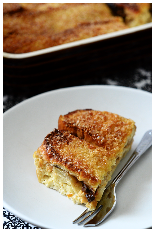 Bread & Butter Pudding with Apples and Stewed Prunes© by Haalo