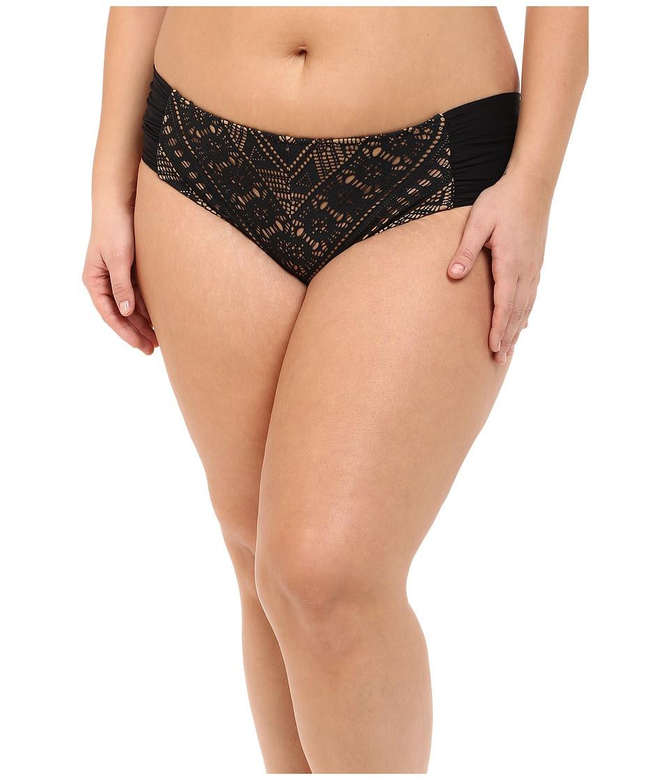 BECCA by Rebecca Virtue - Plus Size Becca ETC La Boheme Hipster (Black) Women's Swimwear