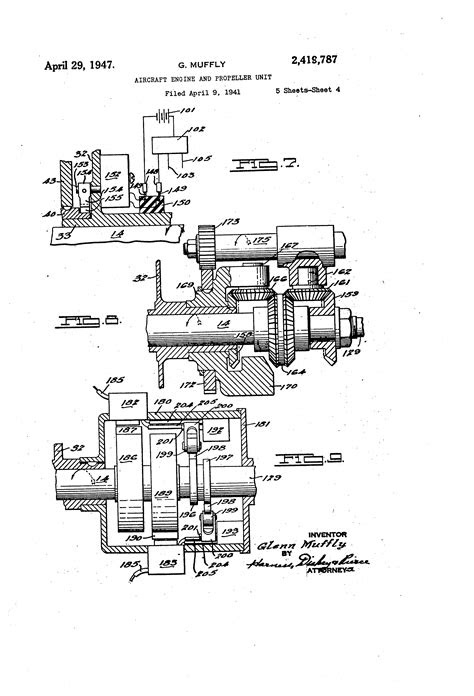 Patent US2419787 - Aircraft engine and propeller unit