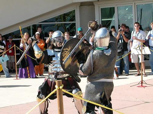 Everybody was black knight fightin'