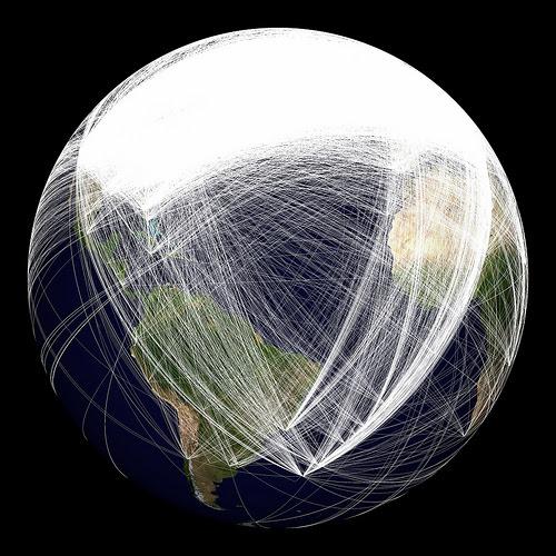 Conexiones de redes sociales en el mundo 2010