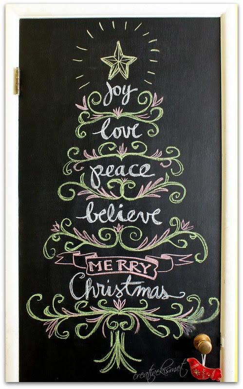 Christmas chalk art