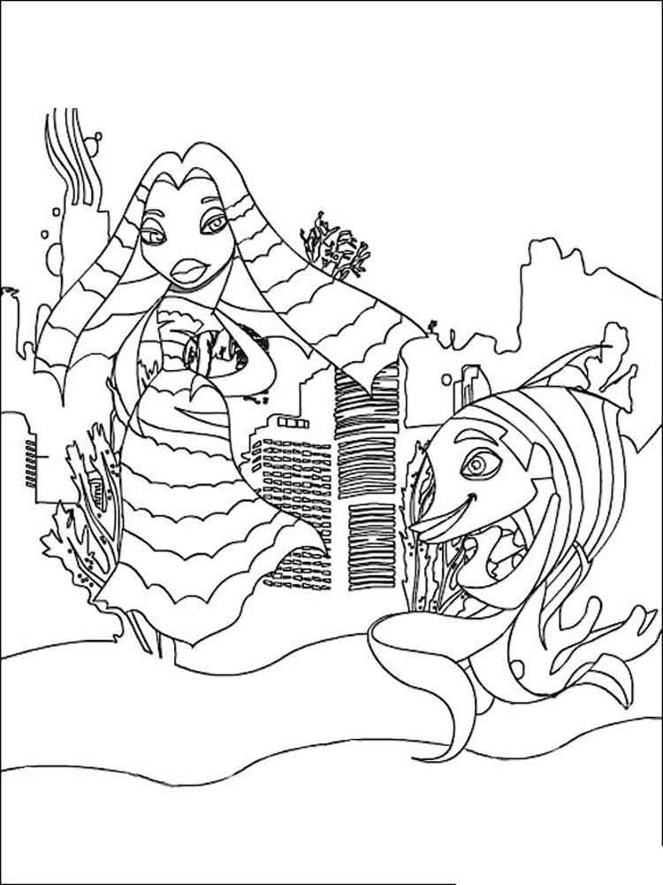 Shark Tale coloring pages. Free Printable Shark Tale ...