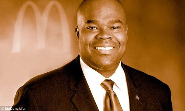 Weight loss: The boss of McDonald's, Don Thompson, pictured, has claimed he's shed 20 pounds in the past year wile eating at his fast food restaurant 'every, single day'