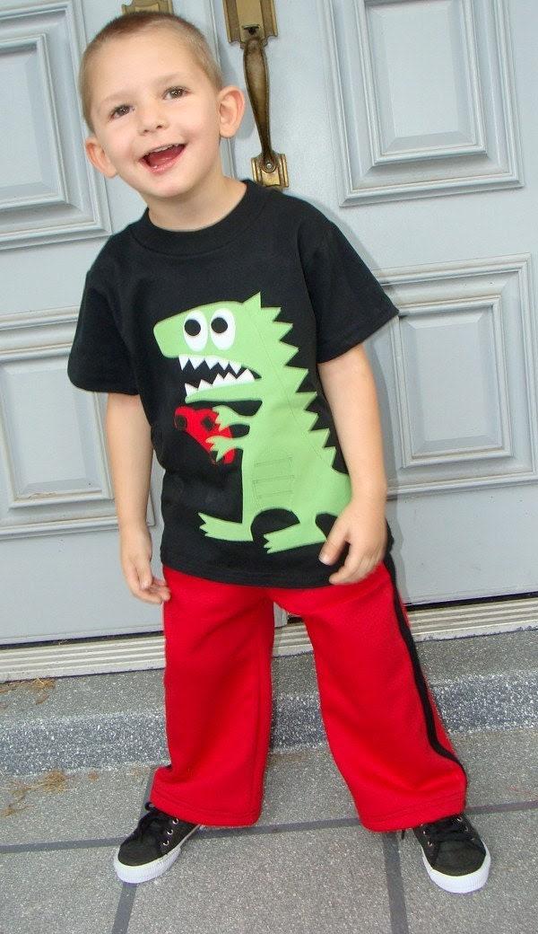 OhZilla Monster Boys Custom Shirt and Pants Set