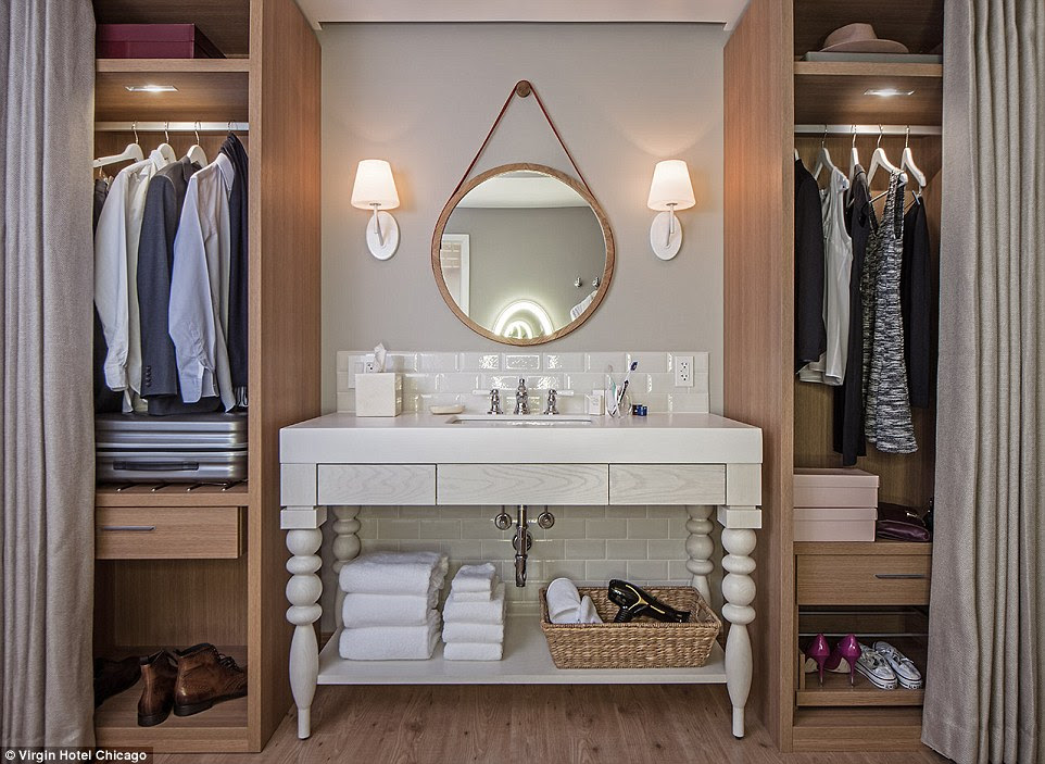 The wardrobe comes with his and hers section, complete with shoe racks and separated hangers for lingerie