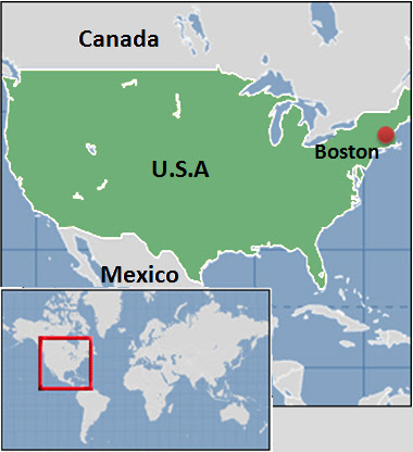 Boston On Us Map Boston Us Map | World Map Gray