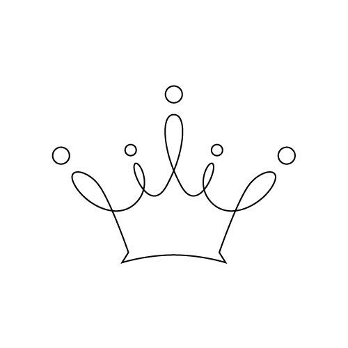 柔らかな王冠のイラスト 無料商用可能王冠クラウン素材