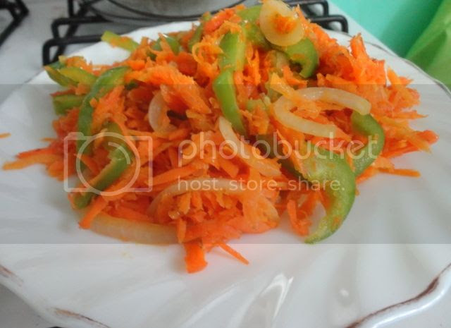 Carrot and Green Bell Pepper Saute
