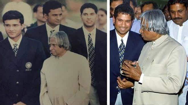 Rare Pics: APJ Abdul Kalam with Sachin, Sourav, Rahul