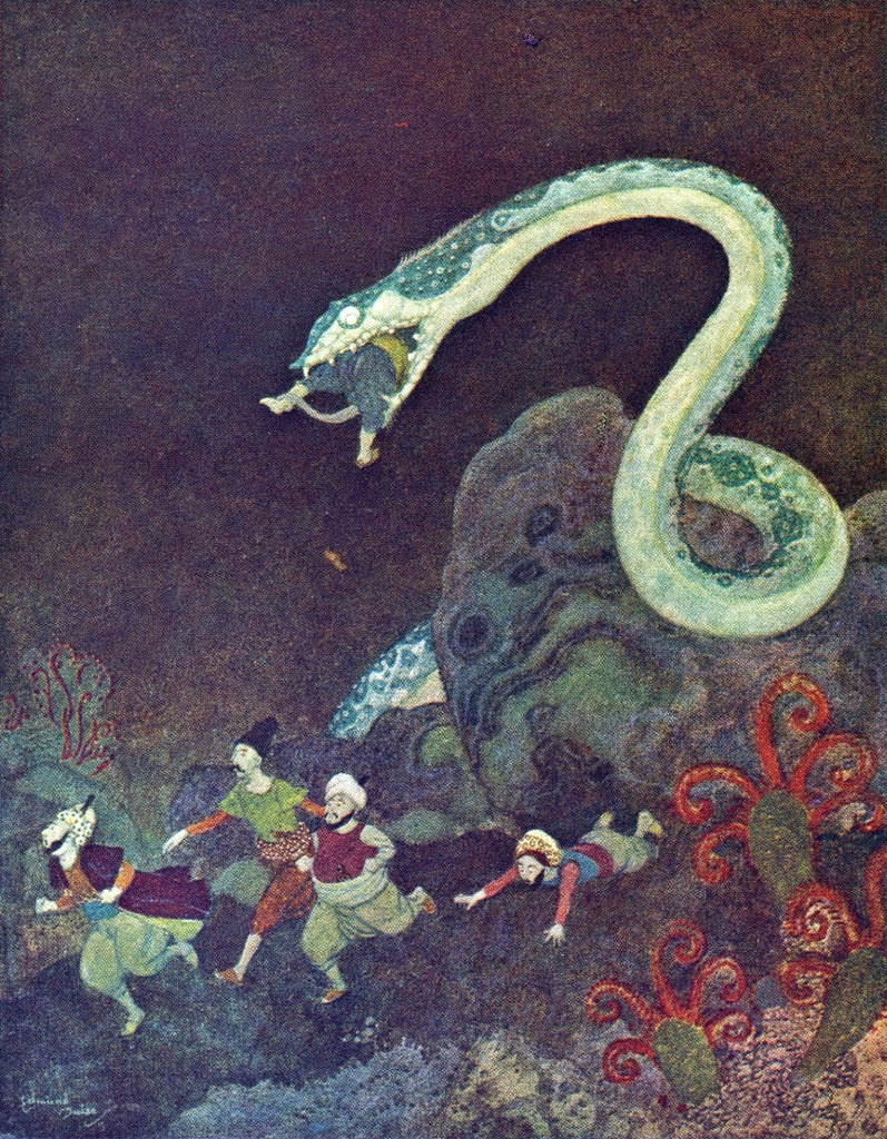 Edmund Dulac - A Serbian Fairy Tale: The Episode of the the Snake (France, c.1914)