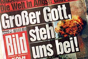 """Σχετικά με τον Θεό και τον κόσμο - Bild, η γερμανική εφημερίδα, """"! Μέγας Θεός, μας συμπαραστέκονται"""""""