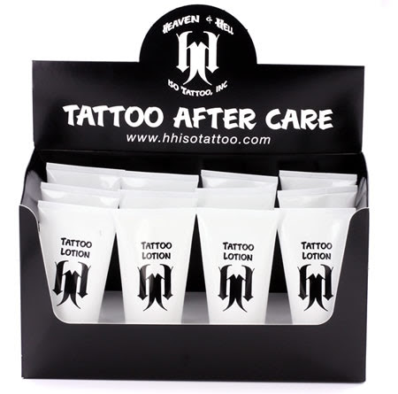 1 CASE of Heaven & Hell Tattoo Lotion 2oz Tattoo Aftercare - 12 bottles of