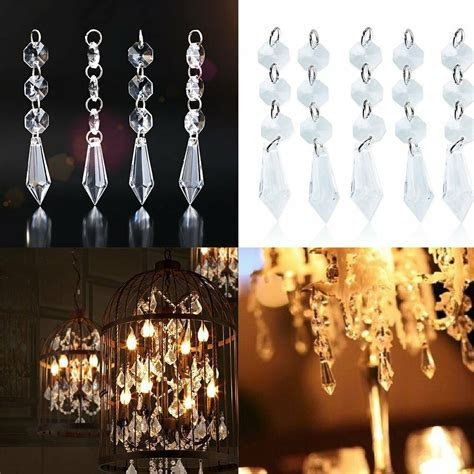 30x Acrylic Crystal Hanging Decoration Garland Bead For