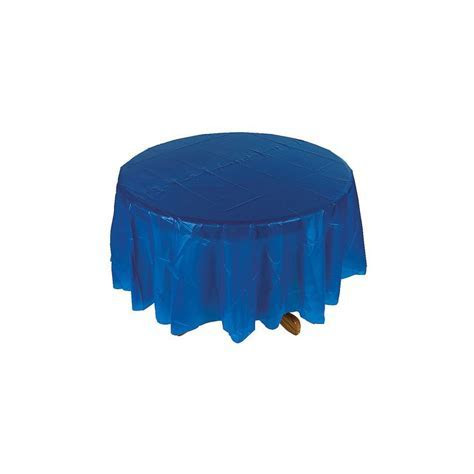 Blue Round Tablecloth   OrientalTrading.com PLASTIC