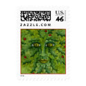 Greenman Holly Postage Stamp stamp