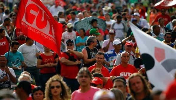 Las seis principales centrales sindicales brasileñas convocaron la víspera a un paro nacional el 22 de septiembre. Foto: Archivo de Diario La Izquierda.