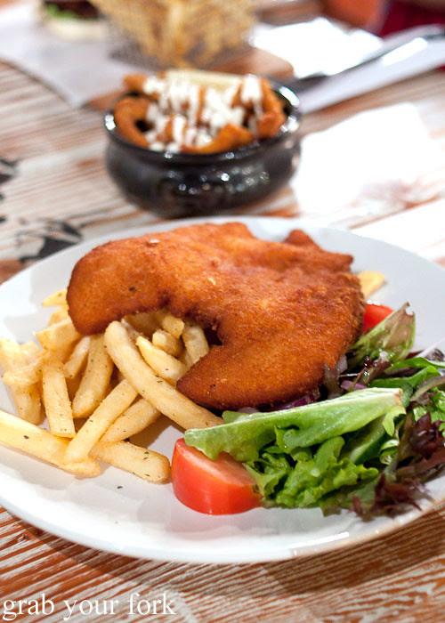 chicken schnitzel at marrickville ritz hotel