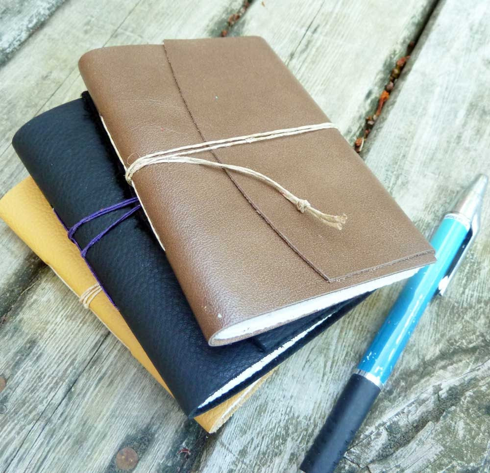 Small Leather Notebook - brown
